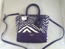 Coach Legacy Zebra Print Mini Tanner Crossbody Bag / Purse 49320 NWT