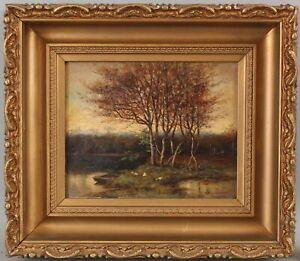 19thC Antique ROBERT WARD VAN BOSKERCK American Impressionist Landscape Painting