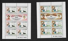 1981 Royal Wedding Set of 4 Mini Sheets  Complete MUH/MNH as Issued 2 Scans