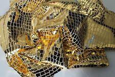 Lambskin leather hide skin METALLIC GOLD CROCODILE PRINT 6sqf