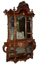 Antique Rococo Carved Rosewood Étagère by Thomas Brooks #7302