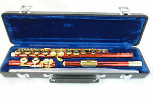 Hunter Closed Hole Student Flute Red/Gold