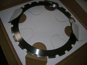 New 14 x 165 Ring Saw Diamond Vantage Blade with Drive Wheel Concrete Walls