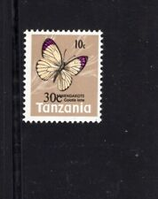 Tanzania 1979 10c on 30c Colotis Ione Butterfly overprint MNH Sc 135  SG 268