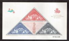 SPAIN 1992 MINT NH SOUVENIR SHEET # B194, DISCOVERY OF AMERICA, ANNIVERSARY !!