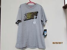 New Boys size M Nike Dri Fit T-shirt Gray with Tiger Scratches Print logo tee