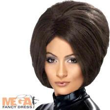 Posh Spice Brown Wig Ladies Fancy Dress 90s Victoria Beckham Costume Accessory