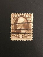 US 6 Cents Treasury Department Used Stamp