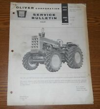 Oliver 1800-1900 Tractor 4WD Service Bulletin