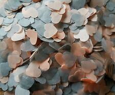 1300+ PEACH & GREY HEARTS CONFETTI WEDDING DECORATION/THROWING/ECO SPRING SUMMER