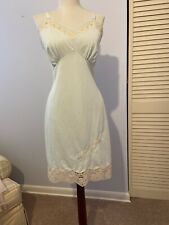 Vintage Aristocraft By Superior Blue Lace Embroidered Full Slip Sz 36 100% Nylon