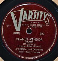 D'Artega & Orchestra Peanut Vendor Rhumba Rumba Varsity 523 Latin Dance Vocal 78