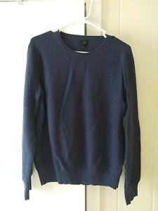 J Crew Mens Cotton Crewneck Sweater  H6060 Size Large Blue