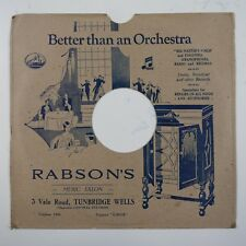 "10"" 78rpm gramophone record sleeve RABSON`S tunbridge wells"
