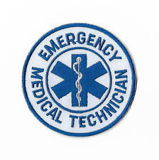 Emergency Medical Technician Patch Iron on Badge First Aid Paramedic CPR AED EMT