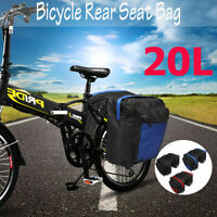 20L Bicycle Tail Rear Seat Saddle Bag Carry Cycling Bike Rack Pannier Pack ✔☆