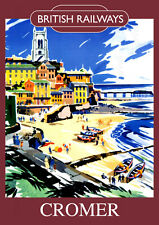 Cromer Vintage British Railways Poster (repro) 2 - Seaside / landmark A4