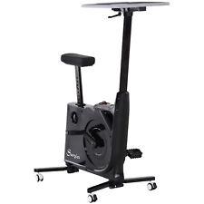 HOMCOM  Cyclette con Tavolo da Lavoro Scrivania con Altezza Regolabile
