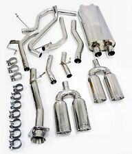 Stainless OBX Dual Cat. Back Exhaust System for 2003-06 HUMMER H2 6.0L SUV/SUT