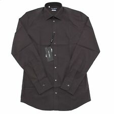 2642L camicia uomo grigia DOLCE&GABBANA D&G gold manica lunga camicie shirts men