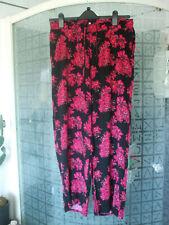 Ladies Matalan Papaya floral pants  size 12
