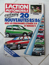 Magazine Action Automobile n°277 Renault 11 Turbo Peugeot 205 T16 Volvo 740