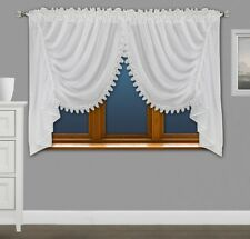 Amazing Voile Net Curtains with Lace Ready Made Living Dining Room Bedroom