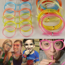 Glasses Straw DIY Unique Cute Soft Glasses Straws Flexible Drinking Tube Fashion