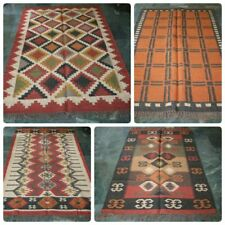 5 pcs Wholesale Turkish Anatolian Antalya Kilim Rug Carpet 5'x3' fit Floor Rugs