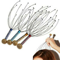 1* Head Massager Metal Scalp Neck Body Natural Relax Pain Relief Scratcher New