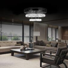 Crystal LED Light Modern Round Ceiling Chandelier Lamp Pendant Living Room