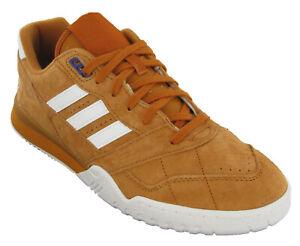 Adidas Mens Casual Trainer Classic Originals Genuine Leather Orange UK 8 - 11.5