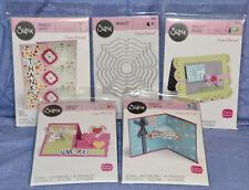 Sizzix Lot Framelits / Card Maker Flip-Its / Drop-Ins / Step-Ups: 5 items; NEW!!
