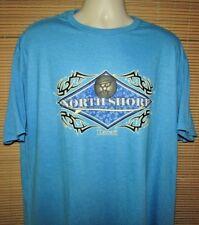 Optima 2XL NWT Short Sleeve Cotton Blend Blue Hawaiian Northshore T Shirt