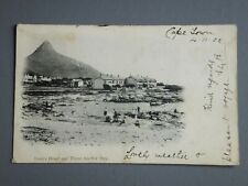 R&L Postcard: South Africa Capetown 1902 Lion's Head and Three Anchor bay