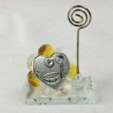 DLM26057-giallo Portafoto Memo Clip in cristallo per Battesimo_Giallo bomboniera