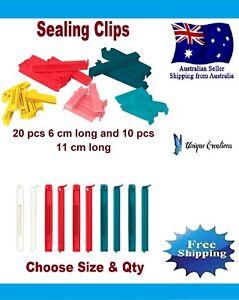 6/10/20/30 IKEA Bevara Plastic Food Storage Bag Sealing Clips Locks Mixed Sizes