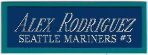 ALEX RODRIGUEZ MARINERS NAMEPLATE AUTOGRAPHED Signed Baseball Display CUBE CASE