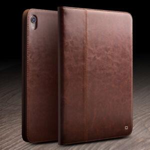 QIALINO Genuine Leather Auto Sleep Smart Cover Folio Case Handbag for iPad Pro