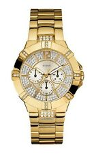 NEW AUTHENTIC GUESS U13576L1 Women's Stainless Steel GOLD TONE Bracelet  WATCH