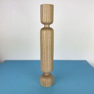 Normann Copenhagen Lumberjack Large Wooden Candle holder Hght 23 cm Simon Legald