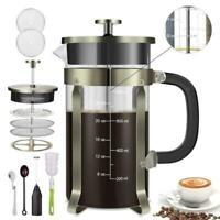 Homost Coffee Maker French Press 34 oz 8 cup 304 Stainless Steel Double Side HOT