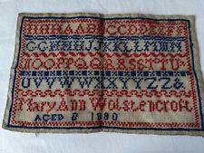 More details for 1880 mary ann wolstencroft victorian sampler aged 8 (later pinkstone) australian