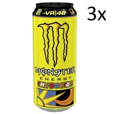 3x Monster Energy Drink Energiegetränk Taurin, Ginseng, 500ml The Doctor VR 46