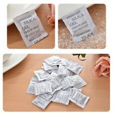 100Pcs Non-Toxic Dry Pack Silica Gel Packets Desiccants Moisture Absorber Home