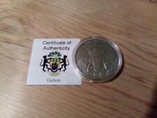 Gabun 1000 Francs 2012 Antique Finish - Elefant - Silber 1oz - Africa Ounce