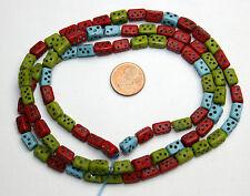 Strang alte böhmische Würfel Perlen / Strand old bohemian dice beads