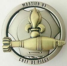 Brevet Tireur CHEF DE PIECE MORTIER 81 de la Légion Étrangère 2°REI