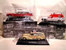 IXO / ATLAS 1/43  -  LOT  DE 3 AMBULANCES CADILLAC - VOLVO - EMW