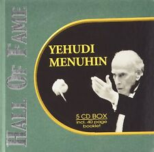 Yehudi Menuhin 5CD Set NEW & SEALED Incl. 40 Page Booklet 1st Class Post From UK